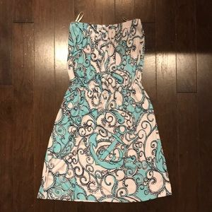 Lilly Pulitzer size S strapless dress